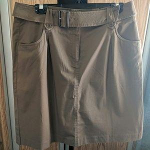 🎁Talbots NWT size 14 khaki belted skirt